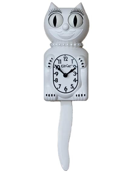 White Lady Kit Kat Clock