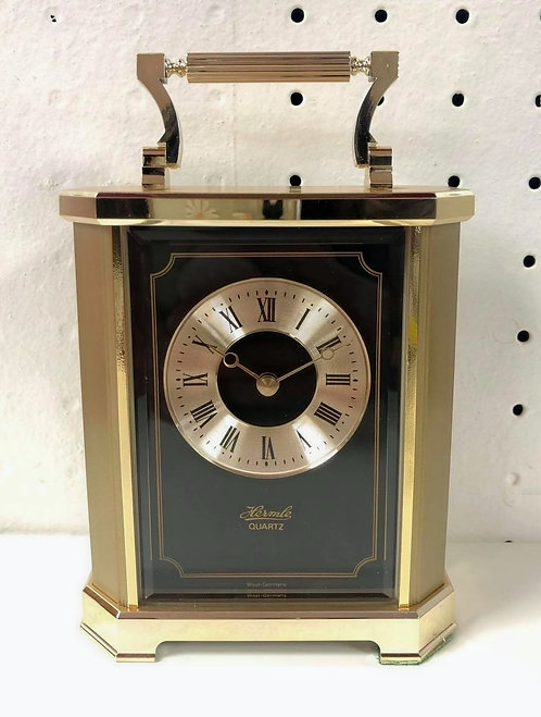 Hermle Gold & Black Carriage Clock