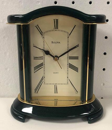 Dark Green Bulova Desk Clock