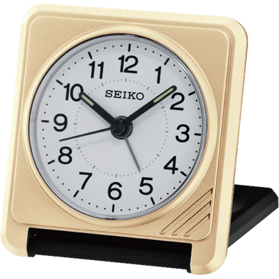 Sachi Travel Clock Gold