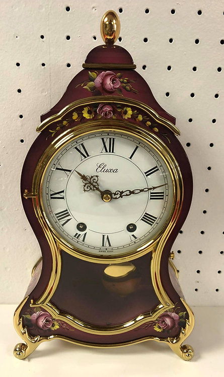 Eluxa Swiss Mantel/Wall Clock - Pink