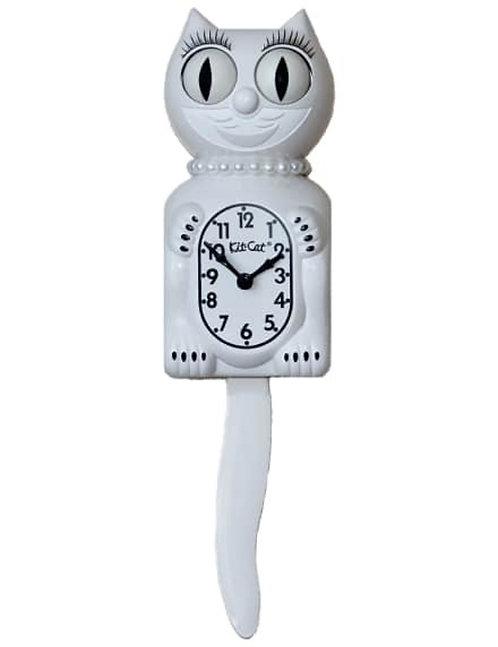 White Lady Kit Kat Clock