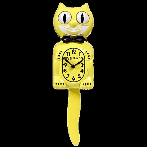 Majestic Yellow Kit-Cat Klock