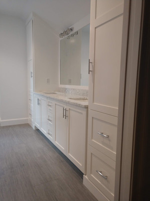 Full Wall Bathroom with Dual Sinks