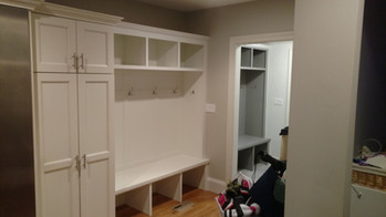 Large Closet with 3 Section Mudroom