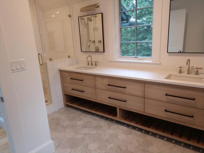 Dual Sink with Custom Useable Storage Under Sinks