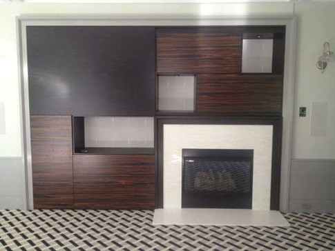 Custom Fireplace and Entertainment Center