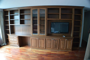 Desk and Entertainment Center In-wall