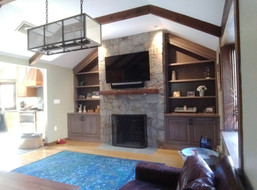 Custom Arched In-wall Cabinets