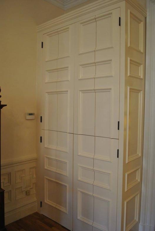 Hidden Desk Cabinet Closed