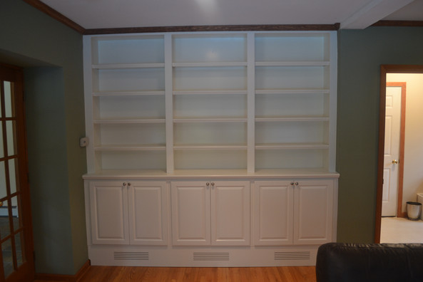 Book Shelving with Cabinets