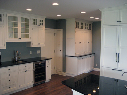 Shaker Style Glass Cabinets
