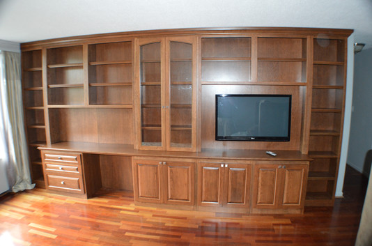 Full In-wall Desk and Entertainment.