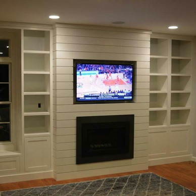 In-wall Fireplace and Entertainment Center.