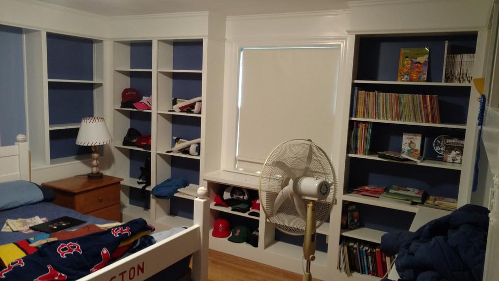 Childrens Room Storage wall