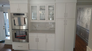 Dual Oven with Glass Cabinets