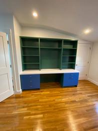 Custom Childrens In-wall Desk Blue