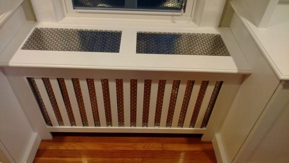 Hidden Heater Cover Between Cabinets