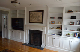 Large Off Center Entertainment Wall