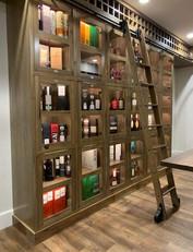Electronically Locked Custom Bar Storage w/Ladder