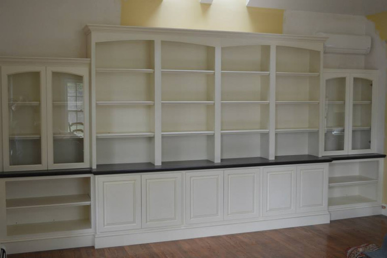Full Wall Shelving and Cabinets