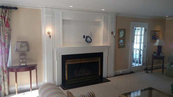 Fireplace Molding with Hidden Compartments