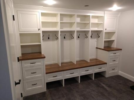 4 Divider Mudroom with Storage