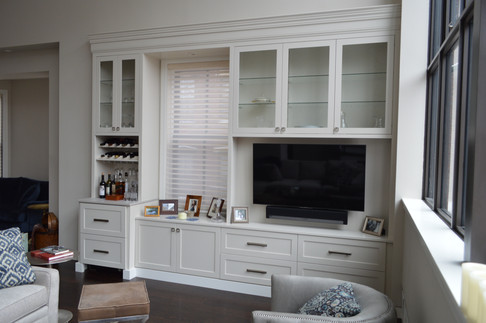 Bar and Entertainment Center in One