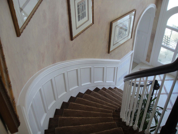 Curved Wainscoting Stairs