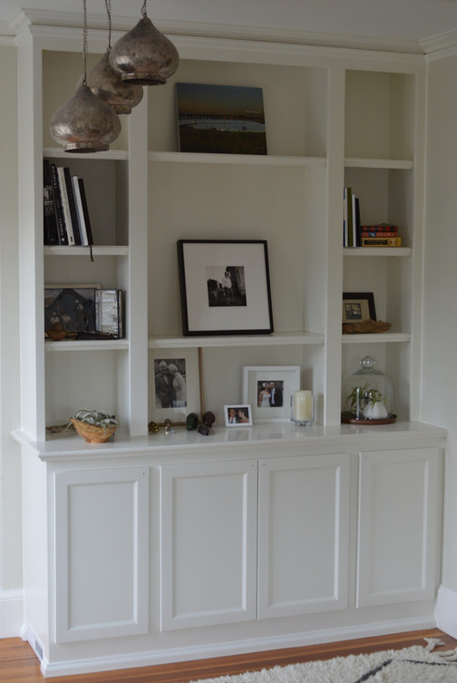 Bookcase with Lower Cabinets Shaker Style
