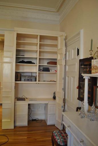 Hidden Desk Cabinet Open