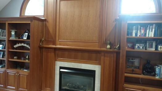 Oak Wall With Fireplace