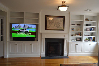 Large In-wall Entertainment with Fireplace