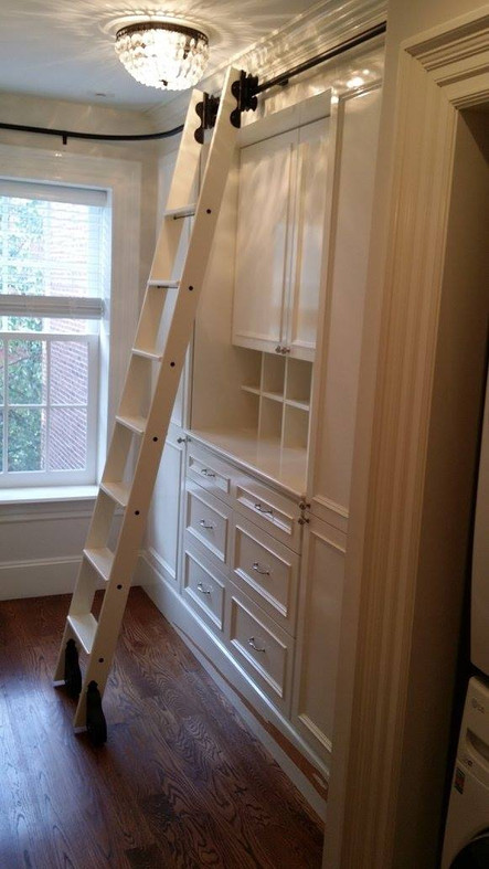 Office Shelving with Ladder