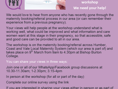 Booking/referral workshop - share your views!