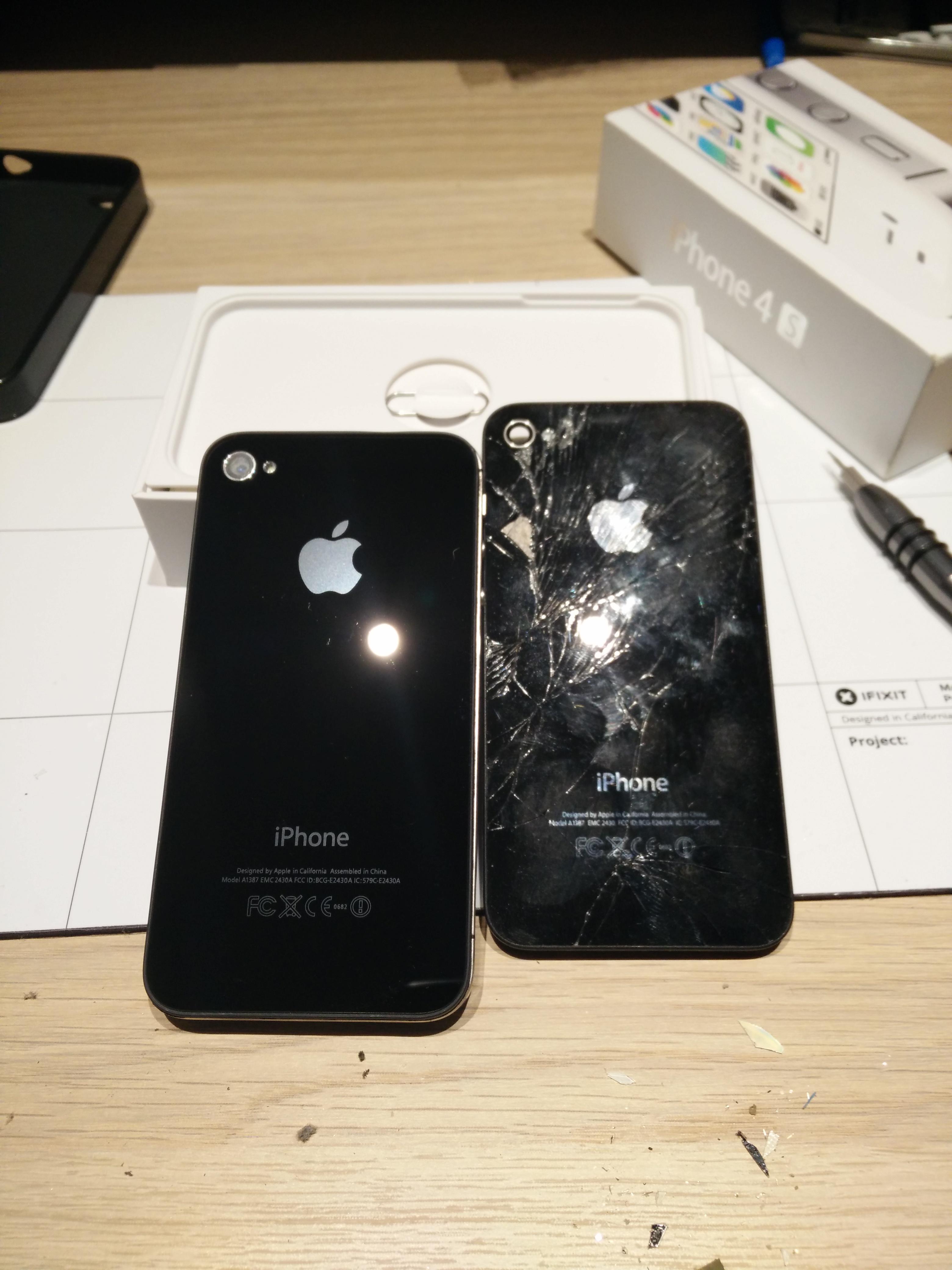 iPhone 4S gebarsten achterkant