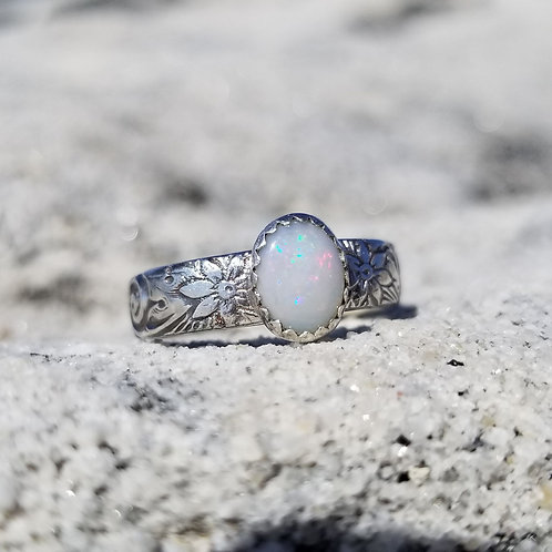 Alchemy ring with Cooper Pedy opal