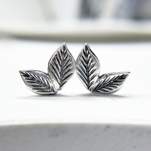 Leaf duo studs
