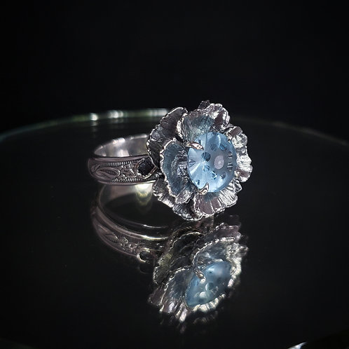 Tel Mithryn ring with blue topaz