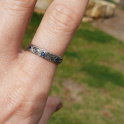 Fine Alchemy band with sapphires