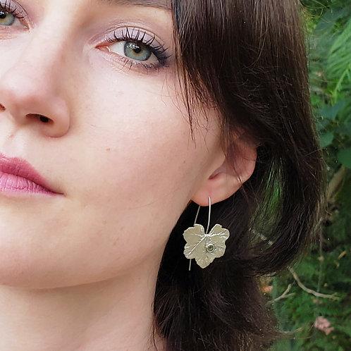 Elven drop earrings with sapphires