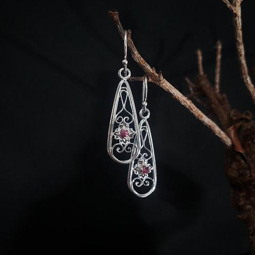 Love spell filigree dangle earrings