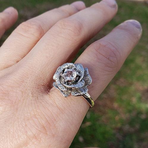 Reserved for Judith Rose flower ring