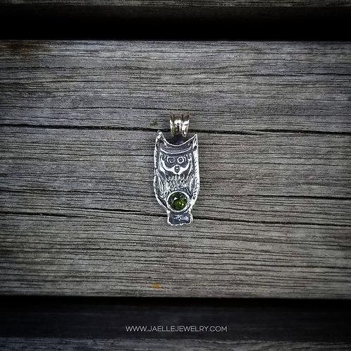 Proud Little Green owl