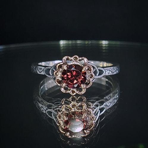 Alton ring with tourmaline