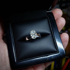 18k white gold engagement ring with 1.5ct diamond