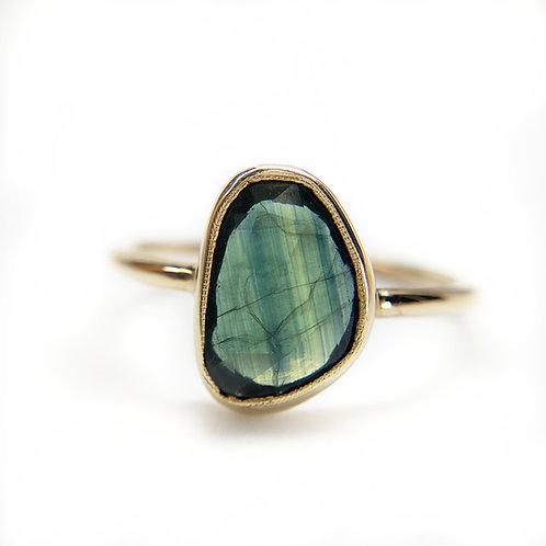 9YG sapphire ring