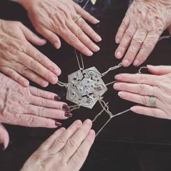 Heirloom pendant set with birthstones
