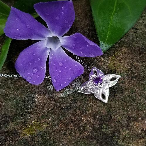 Amethyst petals pendant