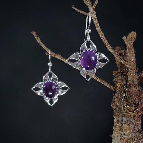 Nehaleni earrings with amethyst